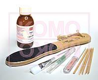 Биопедикюр. Набор:  биогель 120мл, кисть, пемза, масло, полировщик деревянный, апельсин-е палочки, фото 1