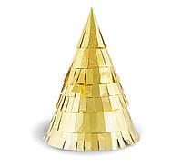 Колпачок на голову праздничный золотистый