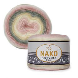 Nako Angora Luks Color (Ангора Люкс Колор) (80% Aкрил, 5% Moxep, 15% Шерсть)