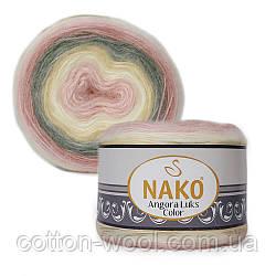 Nako Angora Luks Color (Ангора Люкс Колор) (80% - акрил, 5% - мохер, 15% - шерсть) 81904