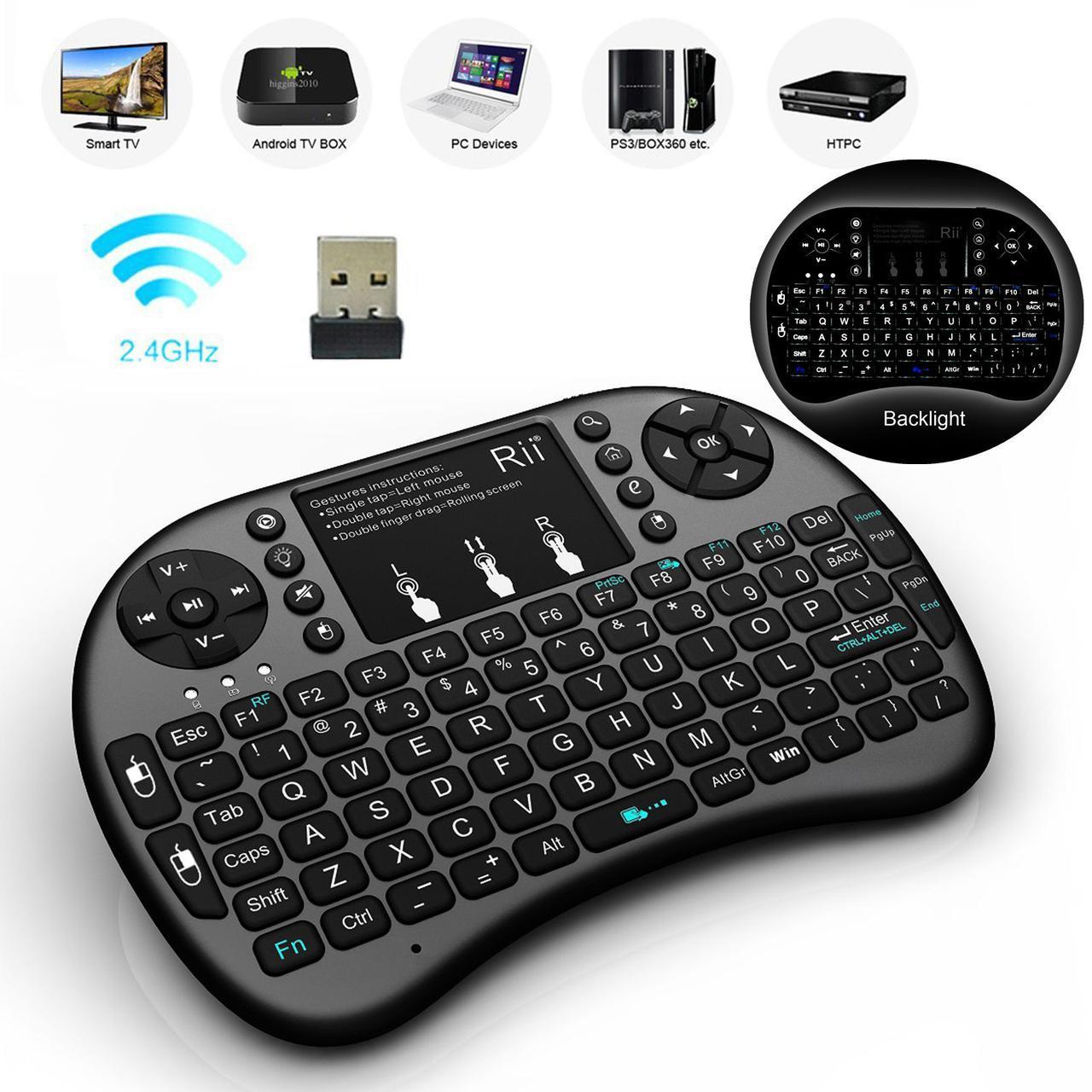 Беспроводная мини клавиатура i8 с тачпадом