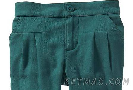 Льняные брюки Old Navy для девочки, фото 2