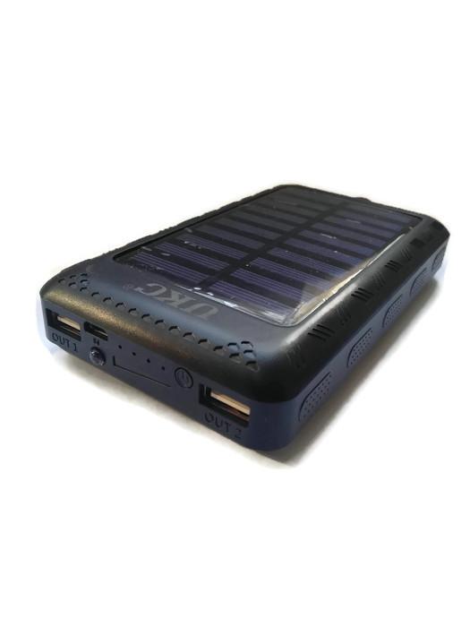 Power Bank 100000 mAh з сонячною батареєю і Led панеллю