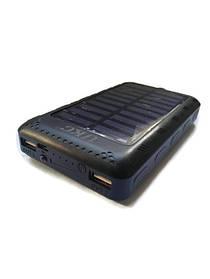 Power Bank 100000 mAh с солнечной батареей и Led панелью