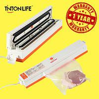 Вакуумный упаковщик (вакууматор) TintonLife белый + 15 пленок в комплекте (Гарантия 1 год)