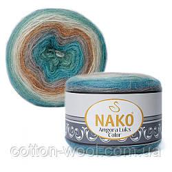 Nako Angora Luks Color (Ангора Люкс Колор) (80% - акрил, 5% - мохер, 15% - шерсть) 81906