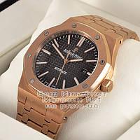 Мужские наручные часы Audemars Piguet Royal Oak Gold Black Аудемарс механика люкс реплика