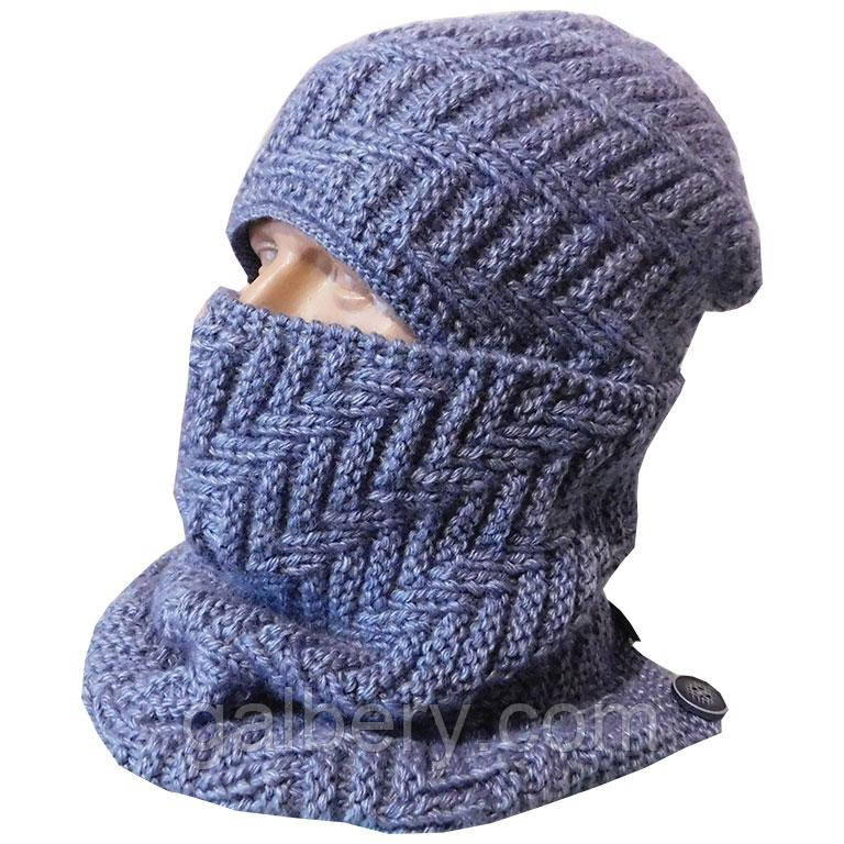 Чоловіча шапка і шарф - бафф ручної роботи