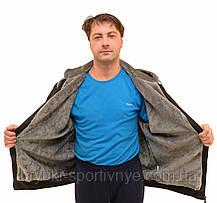 Куртка мужская трикотажная на меху с капюшоном - большие размеры, фото 3