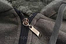 Куртка мужская трикотажная на меху с капюшоном - большие размеры, фото 2