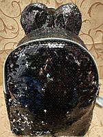 Женский рюкзак медве искусств кожа с блестками и паетками качество городской стильный (только ОПТ), фото 1