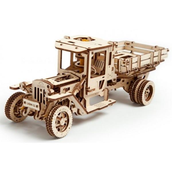 Механічний 3D-пазл UGEARS Вантажівка UGM-11, для розвитку дітей