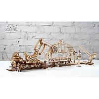 Механічний 3D-пазл UGEARS Маніпулятор на рейках, конструктор для розвитку дітей