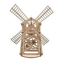 Механічний 3D-пазл Wood Trick Млин, конструктор для розвитку дітей