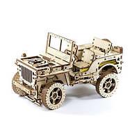 Механічний 3D-пазл Wooden.City Автомобіль 4х4, конструктор для розвитку дітей