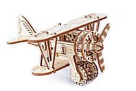 Механічний 3D-пазл Wooden.City Біплан, конструктор для розвитку дітей