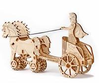 Механический 3D-пазл Wooden.City Римская колесница, конструктор для развития детей