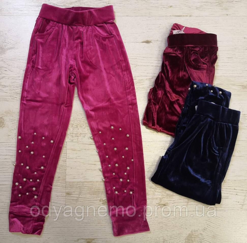 Спортивные брюки велюровые для девочек Seagull оптом, 116-146 pp.