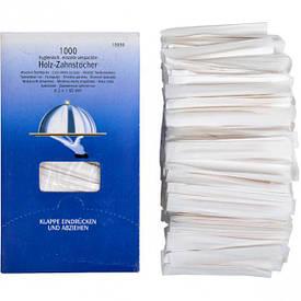 Зубочистки в бумаге 65 мм 1000 штук, 16,5×9,5×7 см  130301
