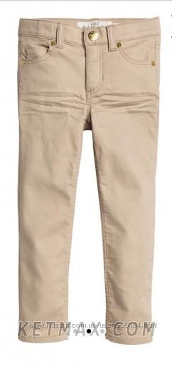 Коттоновые скинни брюки H&M для девочки