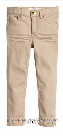 Коттоновые скинни брюки H&M для девочки, фото 2