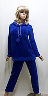 Пижама женская теплая махровая с брюками 611, фото 1
