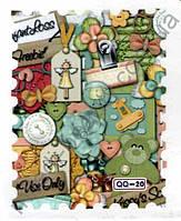 Водная наклейка «Марки» для дизайна ногтей, QQ-20