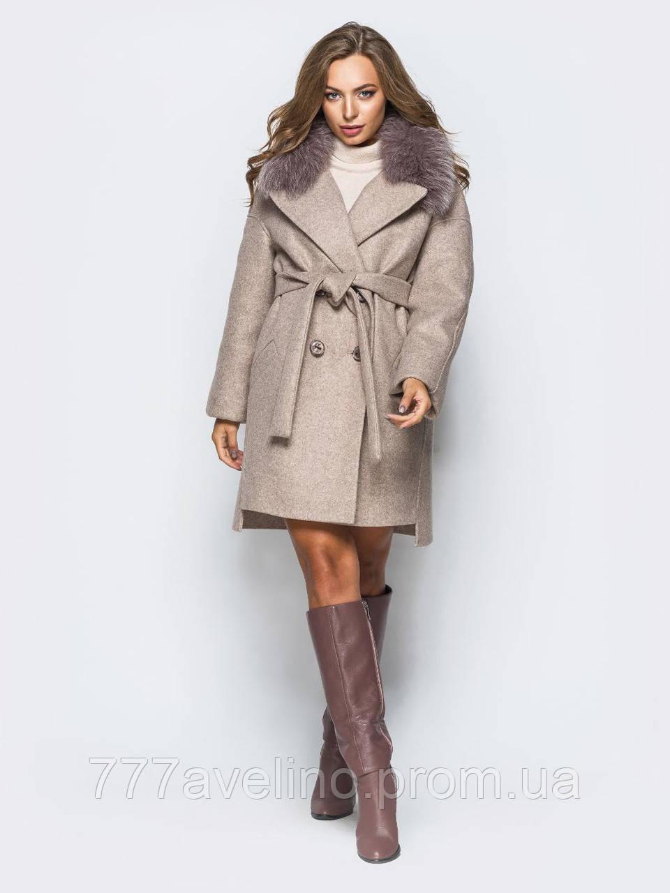 Женское зимнее пальто  модное