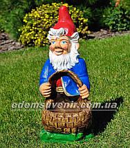 Садовая фигура Гномы с корзинами большие, фото 3