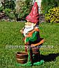 Садовая фигура Гномы с корзинами большие, фото 6