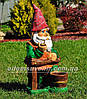 Садовая фигура Гномы с корзинами большие, фото 5