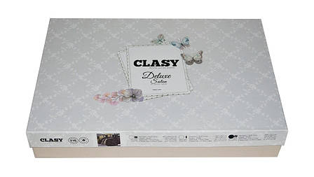 Комплект постільної білизни Clasy Satin Loft 200х220, фото 2