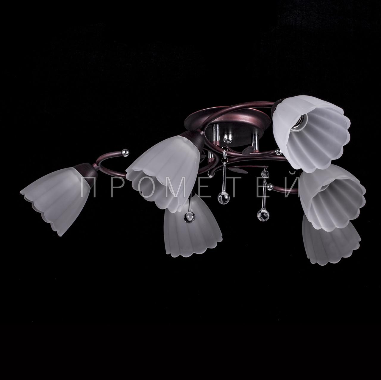 Люстра на 6 лампочек (венге) P3-37392/6C/CD+WT