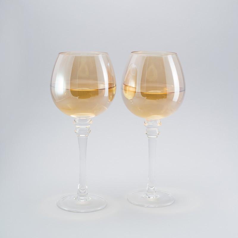 Комплект бокалов для вина с блеском 2ед по 400 мл бокалы
