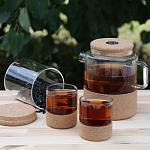 Стакан для чая 200 мл на корковой подставке, фото 3