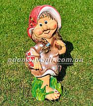 Садовая фигура Гномихи Малышка, Кнопочка, Милашка большие, фото 2