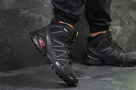 589ae0eab289 Кроссовки мужские на меху Salomon Speedcross 3 черные с серым топ реплика,  фото 2