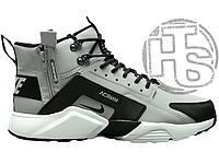 Мужские кроссовки Nike Air Huarache x ACRONYM City MID LEA Grey/Black 856787-100