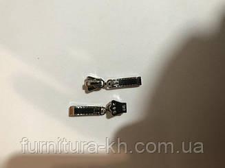 Бегунки универсальные(корона) на тракторные и металлические молнии (Тип-5) цвет никель