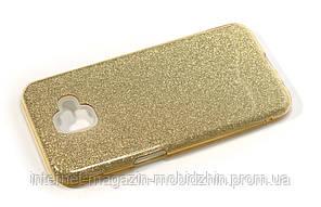 Чехол силиконовый Samsung J610 Galaxy J6 Plus 2018 золотой Remax Glitter