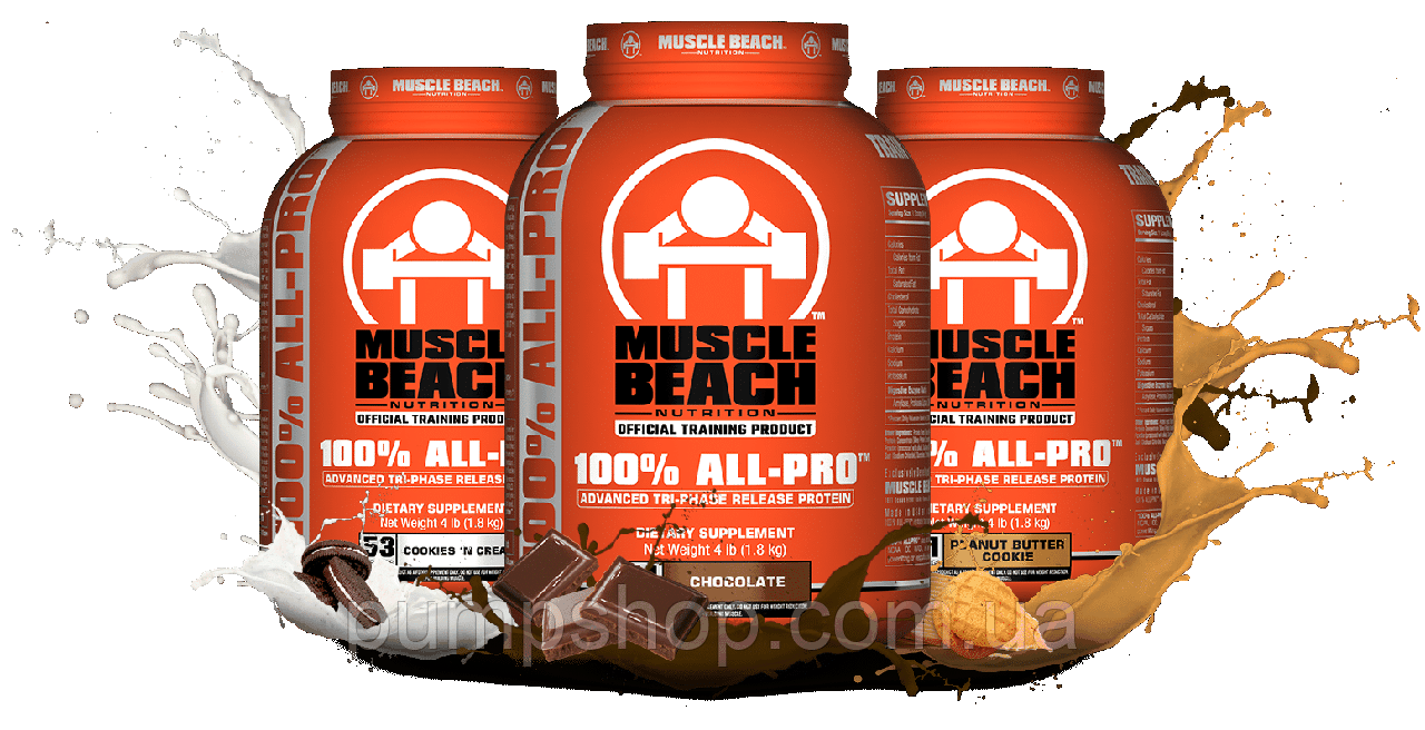 Комплексный протеин Muscle Beach Nutrition 100% All Pro 1800 г