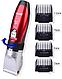 Мощная аккумуляторная машинка для стрижки GM-6001 (керамические ножи), фото 2