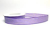 Декоративная лента «Полосатая» фиолетовая