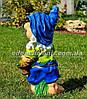 Садовая фигура Гном с фруктами, Незабудка и Синеглазка, фото 6
