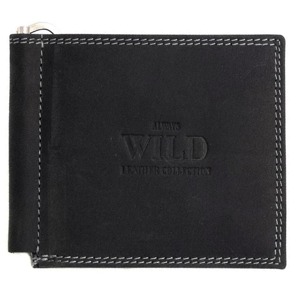 Кожаный зажим для денег  Always Wild C2-MH Black