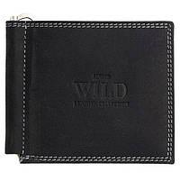 Кожаный зажим для денег  Always Wild C2-MH Black, фото 1