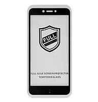 Защитное стекло 5D Full Glue для Xiaomi Redmi 4X Black (Screen Protector 0,3 мм)