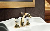 Смеситель для раковины на 3 отверстия, золото Webert Karenina KA750101.010