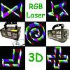 Диско лазер 3D 3 кольори DMX512. TDM-RGB400. Для дискотек, нового року Dzyga, фото 9