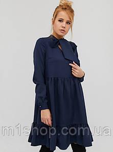 Женское платье-трапеция с воротником аскот (Enteros crd)